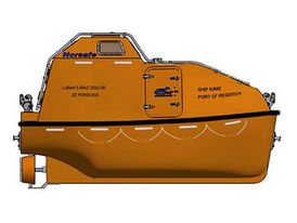 VIKING Norsafe JYN-50 totally enclosed lifeboat - maximum 22 persons