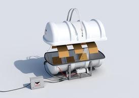 VIKING Polar Liferaft davit launchable 25 pers. 25DKF+