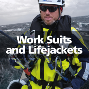 VIKING work suits lifejackets