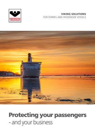 Passenger ferry brochure from VIKING